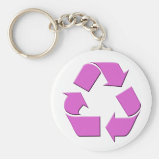 Pink Recycle Symbol Keychain