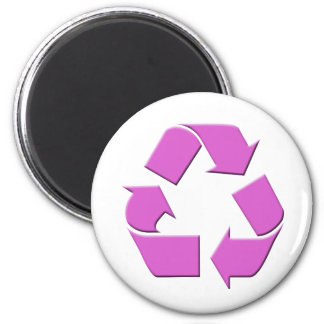 Pink Recycle Symbol Magnet