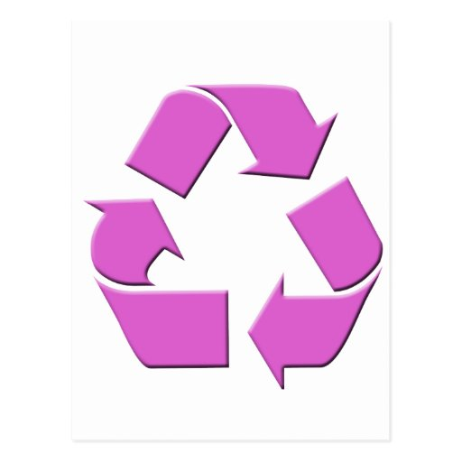 Pink Recycle Symbol Post Card