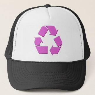 Pink Recycle Symbol Trucker Hat