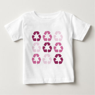Pink Recycle Symbols Baby T-Shirt