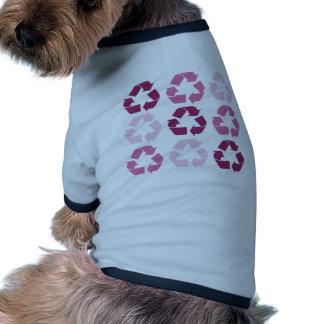 Pink Recycle Symbols Pet T Shirt