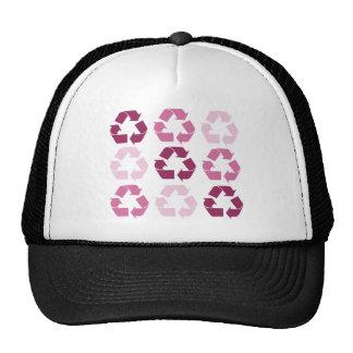 Pink Recycle Symbols Trucker Hat