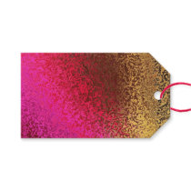 Pink Red And Gold Pattern Gift Tags