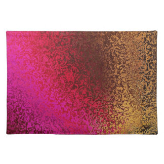 Pink Red And Gold Pattern Cloth Place Mat
