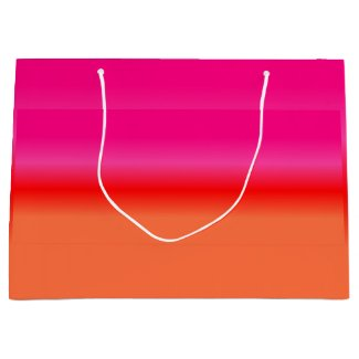 Pink, Red and Orange Gradient gift bag