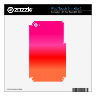 Pink, Red and Orange Gradient iPod Touch 4G Decal