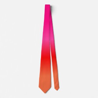 Pink, Red and Orange Gradient necktie