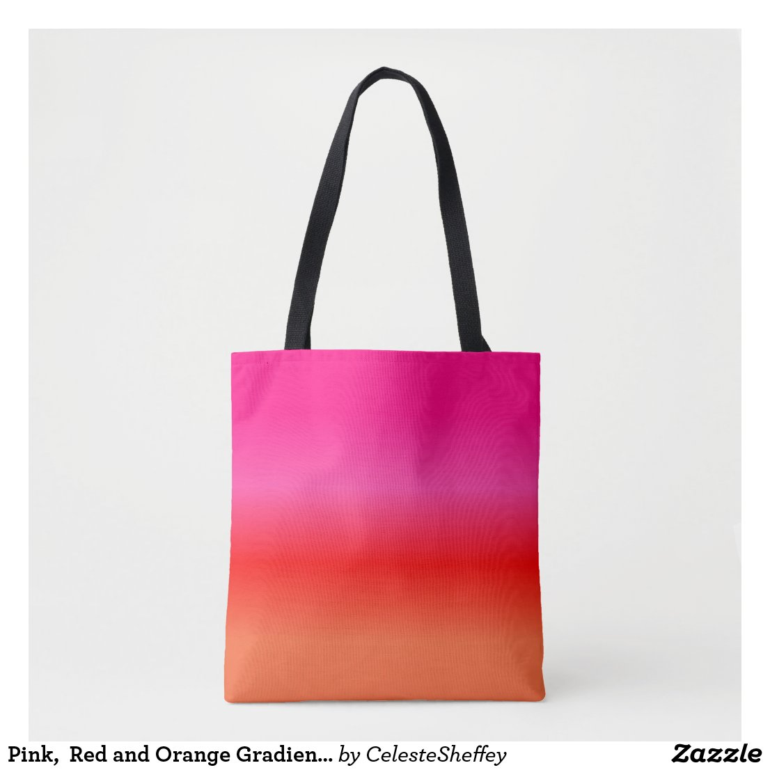 Pink, Red and Orange Gradient tote bag