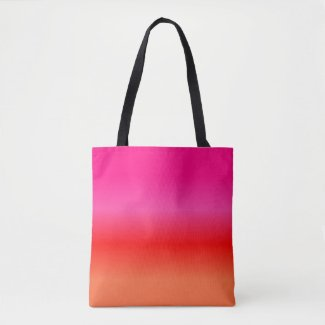 Pink, Red and Orange Gradient tote bag