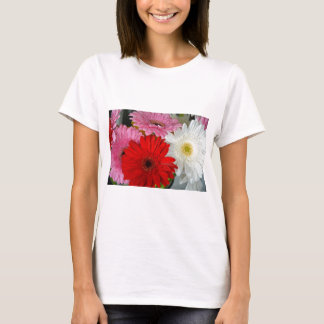 Pink, red and white flowers T-Shirt