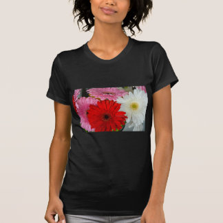 Pink, red and white flowers t-shirts