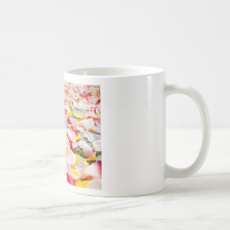 Pink Red and Yellow Rose Petals Coffee Mug