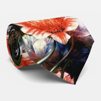 PINK RED ANEMONES WHITE FLOWERS,BUTTERFLY IN BLACK TIE