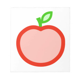 Pink red apple animation illustration notepads