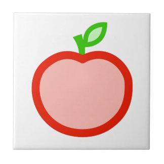 Pink red apple animation illustration tiles