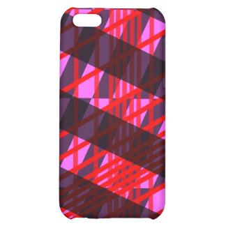 Pink Red Black Stripe Plaid iPhone 4 Case