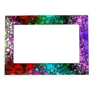 Pink Red Bling Abstract Magnetic Photo Frame