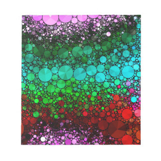 Pink Red Bling Abstract Notepad