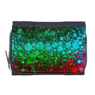 Pink Red Bling Abstract Wallets