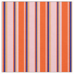 [ Thumbnail: Pink, Red, Blue, and Brown Stripes/Lines Pattern Fabric ]