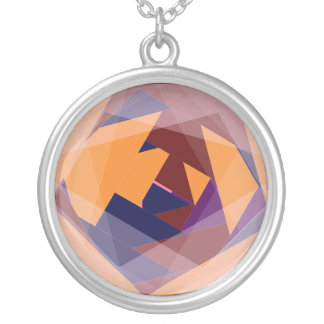 Pink red blue grey orange purple Dangley Thing Round Pendant Necklace