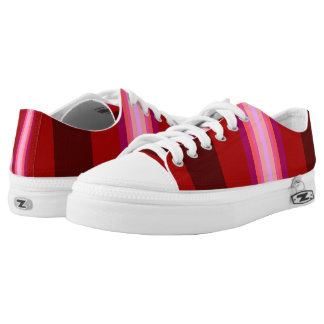 Pink Red Burgundy Purple Bold Stripes Printed Shoes