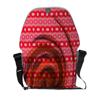 Pink red colored pattern messenger bags
