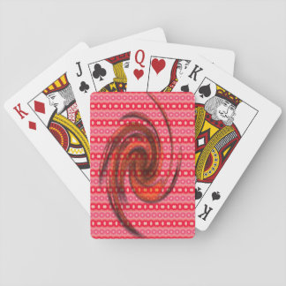 Pink red colored pattern poker cards