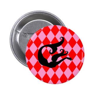 Pink & Red Diamonds Mermaid Pin