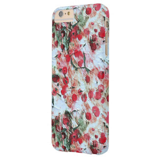 Pink Red Dirty polka Dot Grunge Decay Barely There iPhone 6 Plus Case