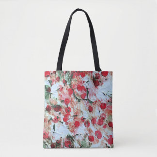 Pink Red Dirty polka Dot Grunge Decay Tote Bag