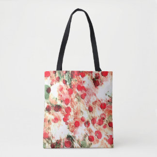 Pink Red Dirty Polka Dot Grunge Tote Bag