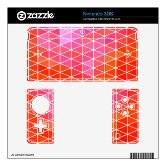 Pink & Red Geometric Triangle Pattern 3DS Skin