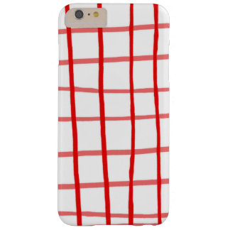 Pink Red Gingham Barely There iPhone 6 Plus Case