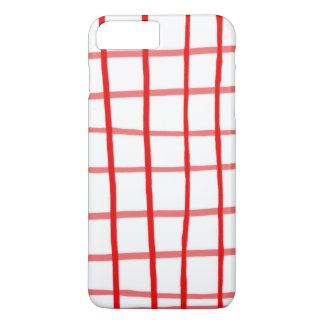 Pink Red Gingham iPhone 7 Plus Case