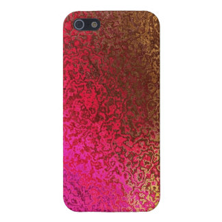 Pink, Red, Gold Frosted Carnival Glass iPhone 5 Cover