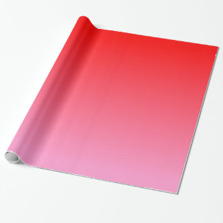 Pink Red Gradient Wrapping Paper
