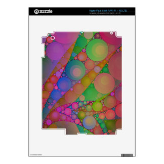 Pink Red Green Abstract Skin For iPad 3