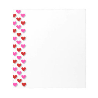 Pink Red Heart Pattern - Customize Background Notepad