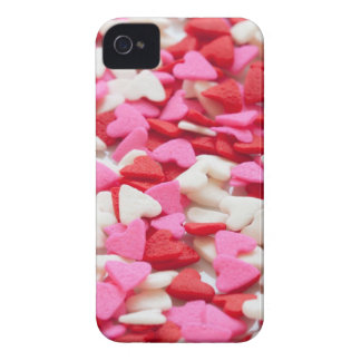 Pink Red Heart Sprinkles Candy Pattern iPhone 4 Cover