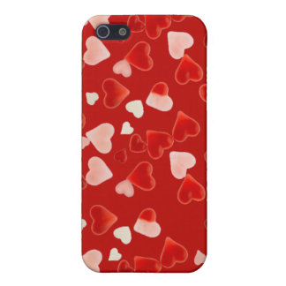 PINK & RED HEARTS by SHARON SHARPE Case For iPhone SE/5/5s