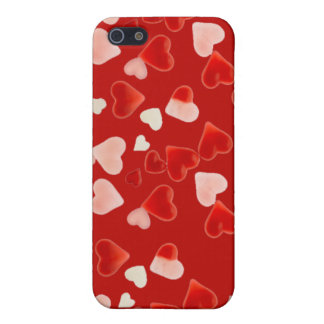 PINK & RED HEARTS by SHARON SHARPE iPhone SE/5/5s Cover