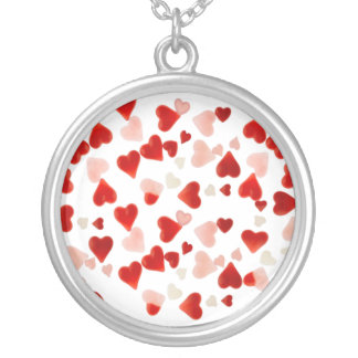 PINK & RED HEARTS by SHARON SHARPE Silver Plated Necklace