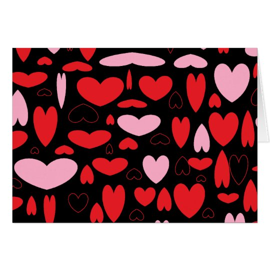 Pink & Red Hearts Card