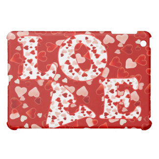 PINK & RED HEARTS LOVE by SHARON SHARPE iPad Mini Cases