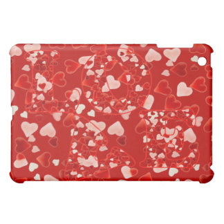 PINK & RED HEARTS LOVE by SHARON SHARPE iPad Mini Cover