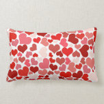 Pink Red Hearts Pattern Valentine's Day Love Gifts Pillow