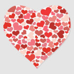 Pink Red Hearts Pattern Valentine's Day Love Gifts Heart Stickers