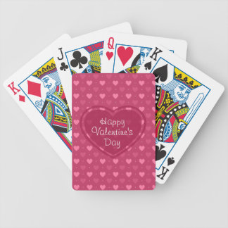 Pink & Red Hearts Valentine's Day Playing cards